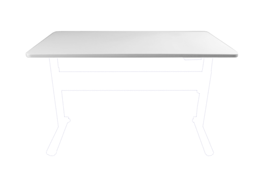 1200mm Desktop - Parchment (White)