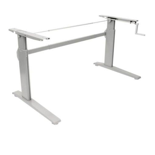 erTgo Hand Crank Narrow Desk Frame