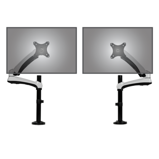 The twin Actiflex monitor arms