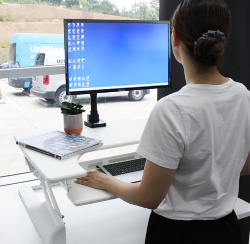 Uplifter portable sit stand workstation scene