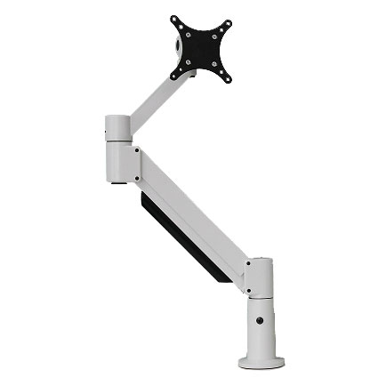 Dual Monitor Arm - Heavy Duty with Switch Wing - NRS (NO rotation stop)
