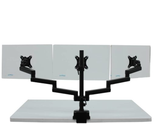Actiflex II Triple Static Monitor Arms and Mount 2