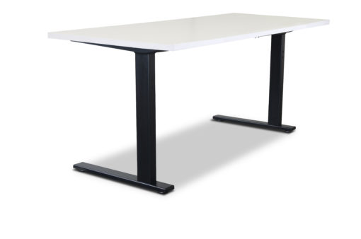 Black Static desk frame and white desktop