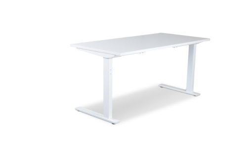 delta White Static desk frame and white desktop