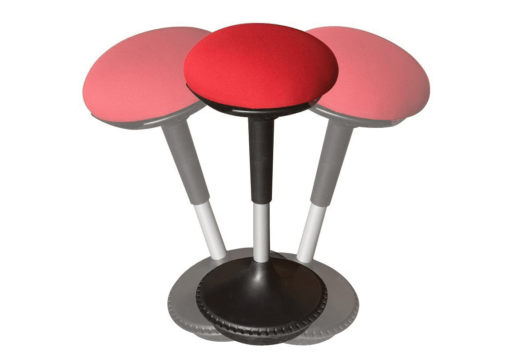 Wobble stool red seat