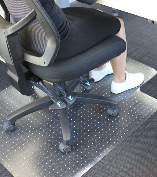 Carpet floor mats for office chairs