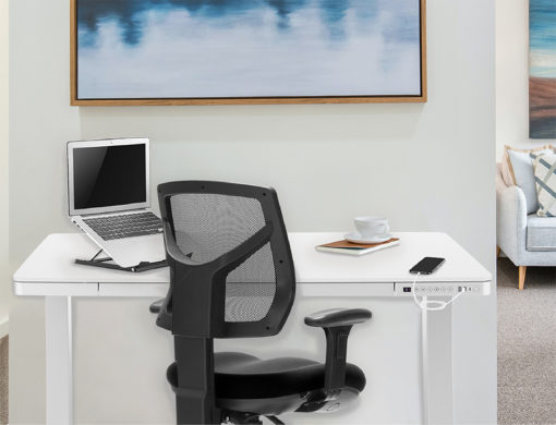 Tango electric desk with H1 ergonomic chair and Flik