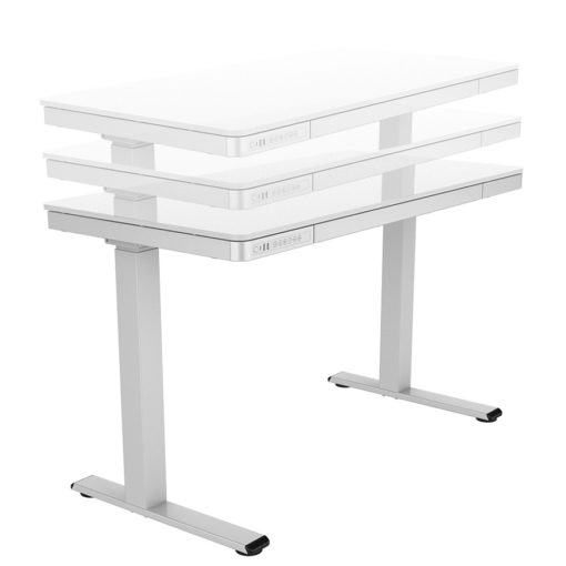 motion electric desk with storage drawer