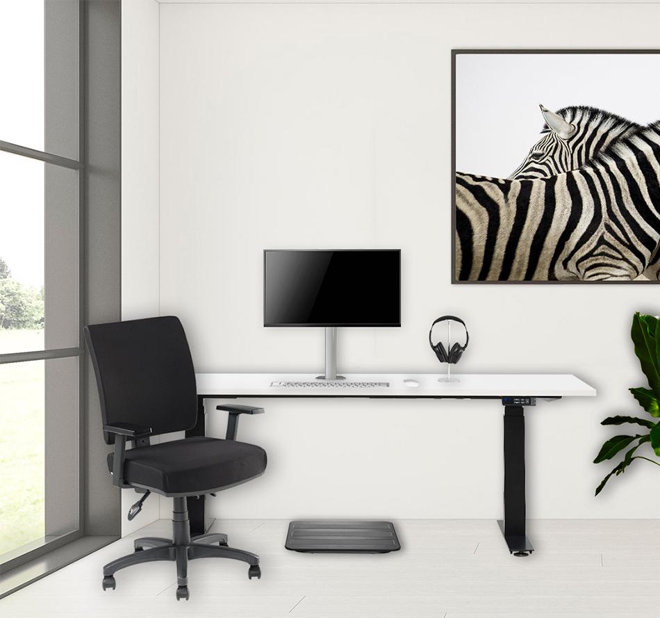 Scorpio with timotion desk adaptive single monitor mount narvi and actifeet