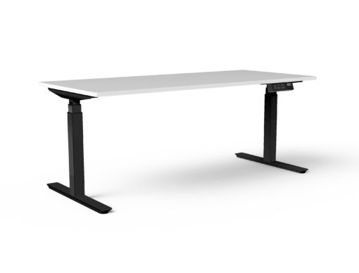 Black TiMotion Sit-Stand Electric Height Adjustable Desk