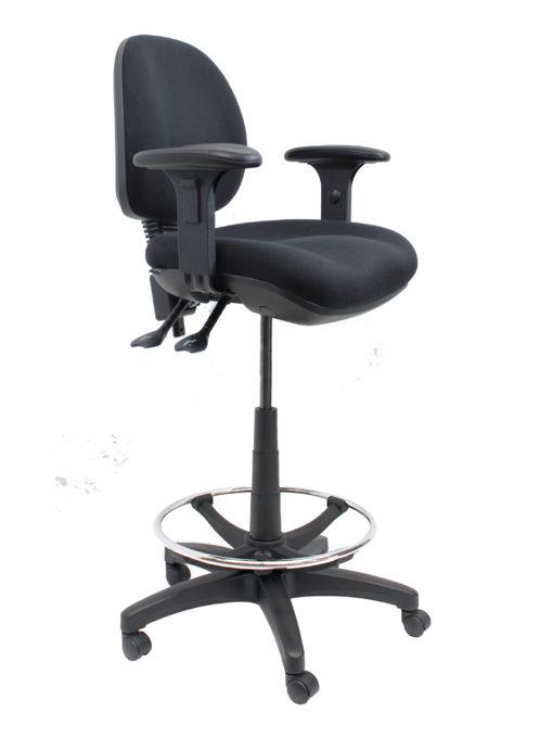 Gala Fabric Drafting chair angle with arms