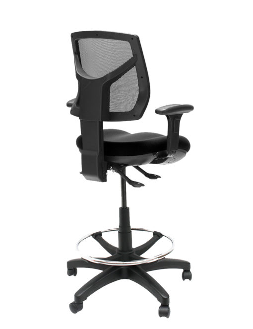 Gala mesh drafting chair back with arms