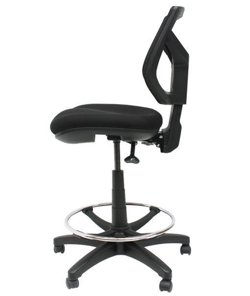 Gala mesh drafting chair side