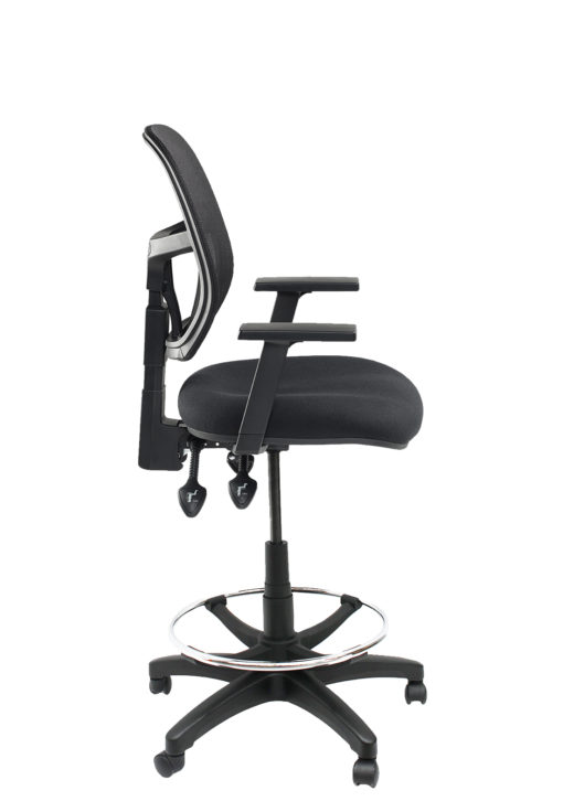 Gmesh Drafting Chair side with arms